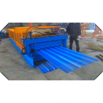 840 900 Double Layer Colored Steel Roof Tile Roll Forming Machine