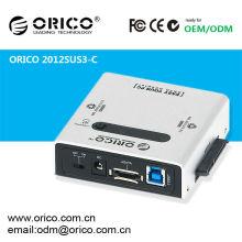 "ORICO 2012SUS3-C 2.5"" 3.5"" 5.25""SATA to USB Hard disk case CLONE USB 3.0 e-SATA GOOD QUALITY HDD duplicator"