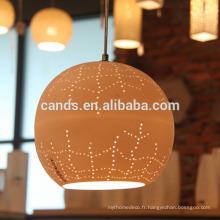 Lampe suspendue en céramique