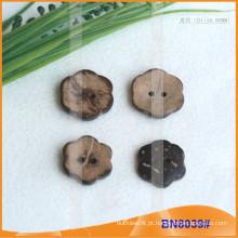 Botões de coco naturais para vestuário BN8039