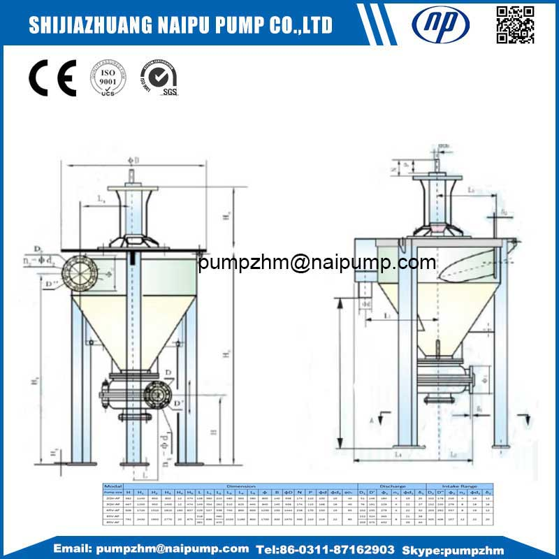 001 vertical slurry pump outline drawing02