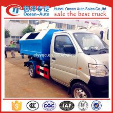 China mini pequeño camión compactador de basura para la venta