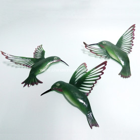 Metal Hummingbirds Wall Decor