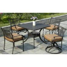 mobília do jardim mobiliário de metal mobília ao ar livre cadeira de lazer conjunto