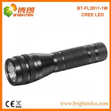 Factory Supply 1aa Battery Used Housing Emergency Black White light 1watt Cree led Flashlights Wholesale