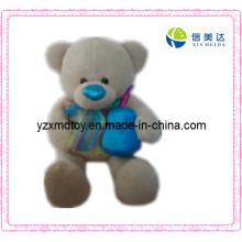 Plush Toy Teddy Bear with a Blue Jar