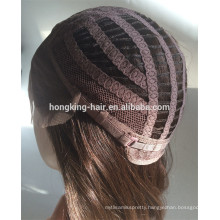 Customized Chinese Virgin Lace Front Wig Half Hand- tied Wig