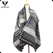 Fashion Jacquard Pattern Sleeveless Shawl