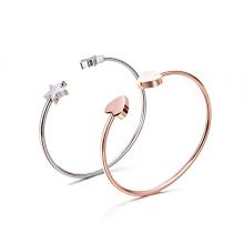 Bracelet plaqué en or 18 carats en acier inoxydable 316L plaqué or blanc personnalisé Bracelet manchette