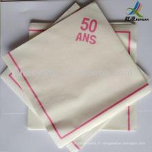Airlaid papier essuie les serviettes de table