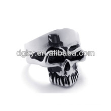Großhandel Schmuck Hersteller Schädel Edelstahl Ringe