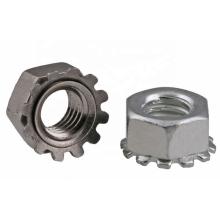 M6 carbon steel  Hex Head Keps Nut Galvanized