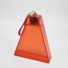 Triangle Plastic Travel Bottle with Cap no Straw