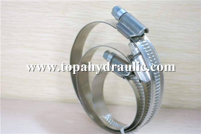Tube stainless steel band small hose worm clamp