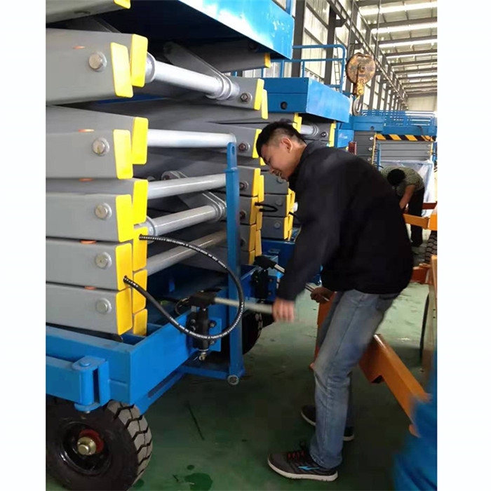 800kg manual mobile scissor lift platform