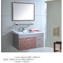 Com armário higiênico de banheiro de aço inoxidável espelhado de prateleira
