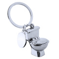 Novelty Toilet Shape Keychain Unique Metal Keychain
