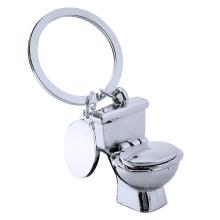 Neuheit Toilettenform Schlüsselbund Einzigartiger Metallschlüsselbund