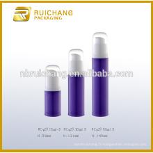15ml / 30ml / 50ml pp cosmétiques bouteille sans air, bouteille ronde en plastique sans air, bouteille de pompe sans cosmétiques
