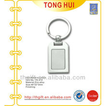 Plated Silber Finish quadratischen Schlüsselhalter Metall leer
