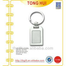 Plated Silver finish cuadrado llave metálica de metal