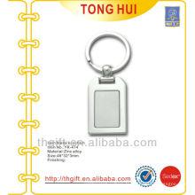 Plaqué en argent Fini porte-clés porte en métal blanc