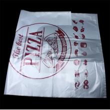 PE Pizza Disposable T-Shirt Food Shopping Bag