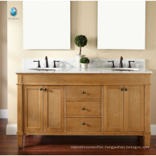 Furniture bathroom cabinet exporter new style solid wood sliding door american vanity