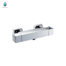 KWM-06 new design square bathroom shower and bath corner solid brass chrome plated water saving wall mounted shower mixer