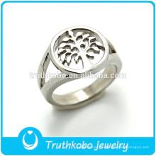 TKB-R0024 a árvore do anel de dedo de aço inoxidável da vida / anéis baratos da mulher