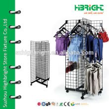wire fixtures and grid display rack