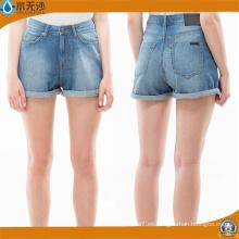 Pantalones cortos de mezclilla de algodón 2018 primavera mujer Casual Slim Fit