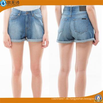 2018 Frühling Frauen Casual Slim Fit Mini Baumwolle Denim Shorts