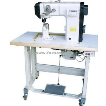 Máquina de coser postbed de alimentación de rodillos con cortahilos automático y rematado