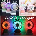 Portable USB sạc cầm tay LED USB Fan