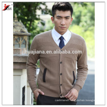 fashion design cashmere knitting men's cardigan