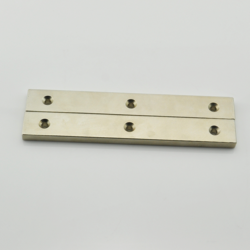 Ndfeb neodymium big block magnet with holes