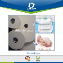 Rollos de papel enrollado de materia prima para pañales