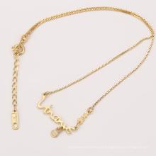 Collar del nombre del diseño simple de la joyería de los niños del oro de la moda de 41968 Xuping para el bebé