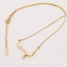 41968 Xuping fashion gold kids bijoux collier avec un nom simple pour bébé