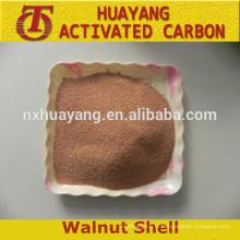 Chine Abrasif de coquille de noix de fabrication / noix en coquille pour le traitement de surface