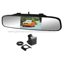 Car rear view system, 4.3 inch after market mirror monitor with wide view angle waterproof cameraNew