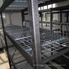 Rack / étagère industriels galvanisés par affichage multicouche de stockage en métal