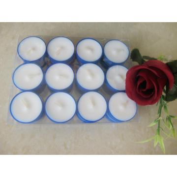 Romantic Use Blue Cup Unscented Tealight Candle