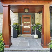 Vidrio frontal de doble cara lateral de estilo occidental 2018 con puerta de marco de madera con certificado CE
