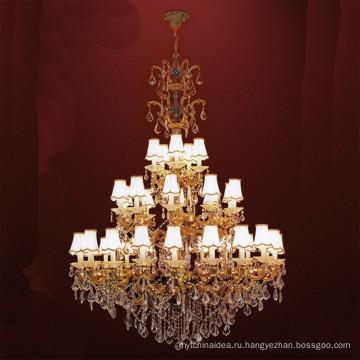 Классический Европейский Утюг художественный металл роскошный золотой светодиодные Хрустальная Люстра для гостиной
