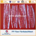 Anti Crack PP Polypropylene Fibrillated Mesh Fiber