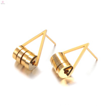 Custom Geometry Round Shaped Stud Edelstahl Ohrringe Schmuck