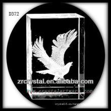 K9 3D Laser Flying Eagle dentro de rectángulo de cristal