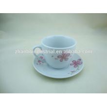 220CC Фарфоровая чашка кофе и блюдце с русской декалью